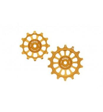 12/12T PULLEY SET FOR SHIM 11 - FULL CERAMIC (GOLD)