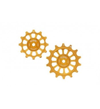 12/14T OVERSIZED PULLEYS FOR SHIM R9100 ROAD (GOLD)