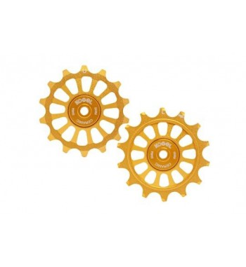 14/14T PULLEY SET FOR SRA12 - CROSS (GOLD)