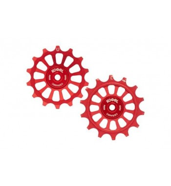 14/14T PULLEY SET FOR SRA12 - CROSS (RED)