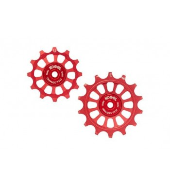 12/14T OVERSIZED PULLEYS FOR SHIM R9100 - FULL (RED)